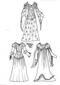 Printables for different historical era paper dolls and clothes