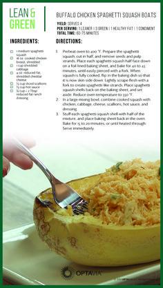 Buffalo chicken Spaghetti Squash boats