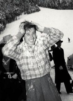 gentleman-flynn: Errol Flynn enjoying the snow —Sun Valley, 1939 #ErrolFlynn #Flynn