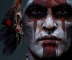 Warrior of the shadows/ Wild West challenge, Aidin Salsabili Native American Face Paint, Native American Warrior, Native American Pictures, Native American Artwork, Native American Quotes, American Indian Art, Native American History, American Indians, Tattoo Guerreiro