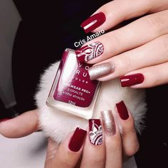 #nails #crisamaro #dicasdeunhasbr #alongamento #avon #instagood #instalike #igers #vinhoatração #vinho #luxo #unhasdecoradas #unhaslindas… Ulta Coupon Code, Nail Art Noel, Make Your Own Calendar, Pedicure, Nail Art Designs, Nail Polish, How To Make, Korn, Free Samples
