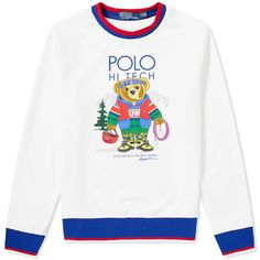 Buy the Polo Ralph Lauren Hi-Tech Bear Crew Sweat in White Multi from leading mens fashion retailer END. - only Fast shipping on all latest Polo Ralph Lauren products Boosie Badazz, Crew Neck Sweatshirt, Graphic Sweatshirt, Long Sleeve Tee Shirts, Fall Outfits, Polo Ralph Lauren, Mens Fashion, Sweatshirts, Tech