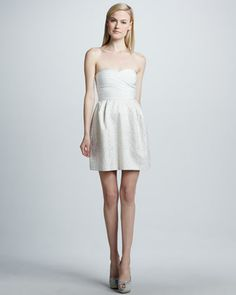 Strapless Metallic Combo  Bandage Dress by Erin by Erin Fetherston at Neiman Marcus.