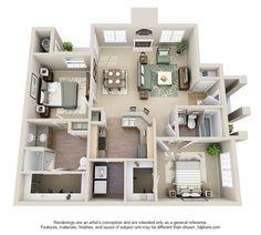 Littleton CO Apartment | Monterey Apartments | Floorplans