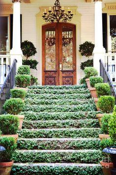 Love the vine grown stairs!