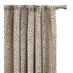 Eastern Accents Inès Spotted Animal Print Room Darkening Rod Pocket Single Curtain Panel Size per Panel: Animal Print Curtains, Animal Print Rooms, Printed Curtains, Drapes Curtains, Bedroom Curtains, Drapery, Office Color, Spotted Animals, Eastern Accents
