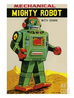 Mechanical Mighty Robot Premium Poster at Art.com