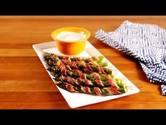 Best Bacon Asparagus Dippers Recipe - How to Make Bacon Asparagus Dippers