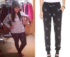 Grey elephant sweats from The Mindy Project