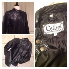 Vintage 70s Leather motorcycle jacket / genuine black leather patchwork design / women's jacket size Medium / GREAT CONDITION by PureJoyVintage on Etsy