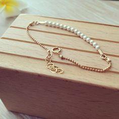 Swarovski Pearls & Gold Bracelet Pearl Bracelet by LuluMayJewelry, $35.90
