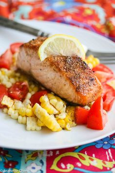 15 Minute Spice Rubbed Roasted Salmon Recipe