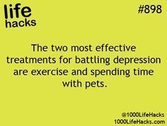 1000 Life Hacks. pets and exercise, best medicine!