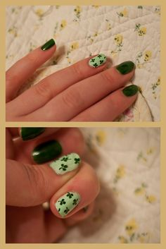 My festive St. Patrick's Day nails. :)