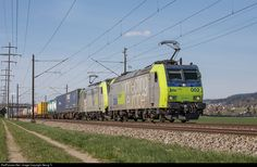 RailPictures.Net Photo: 485 002, 486 509 BLS Lotschbergbahn Re 485, Re 486 at Kiesen, Switzerland by Georg Trüb
