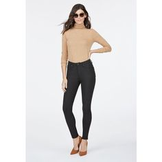 Justfab Perfect Jegging High Waisted Jegging ($40) ❤ liked on Polyvore featuring plus size women's fashion, plus size clothing, plus size pants, plus size leggings, black, high waisted leggings, high waisted cotton leggings, high rise jeggings, high rise skinny jeans and high-waisted leggings