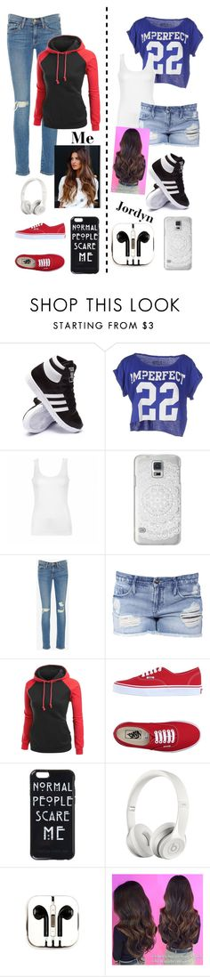 """""""Me & Jordyn"""" by aogg ❤ liked on Polyvore featuring adidas, !M?ERFECT, Ally Fashion, Casetify, Frame Denim, Black Orchid, Vans, Beats by Dr. Dre and PhunkeeTree"""