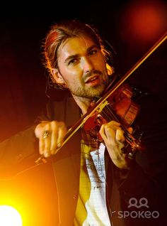 German Classical & Rock virtuoso violinist David Garrett performing at a private function at Chateau Napoule.