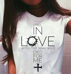 """Our famous """"Love"""" shirts are back, just in time for Christmas! The perfect gift for the lady in your life Off Flash Sale Free Worldwide Shipping & Money-Back Guarantee If we run out of stock, please check back in May 2018 for our next restock! Christian Clothing, Christian Shirts, I Fall In Love, Falling In Love, Idees Cate, Cute Shirt Designs, Jesus Shirts, Love Shirt, Printed Tees"""