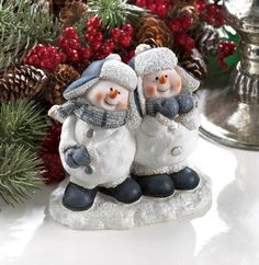Cheerful Snowmen Duo Figurine from P&J Sales. Shop more products from P&J Sales on Wanelo.