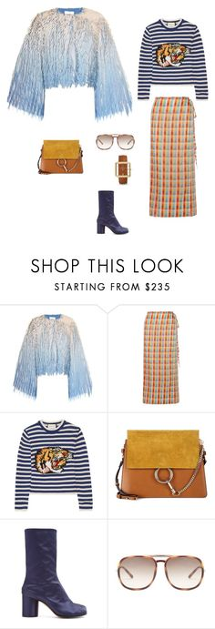 Repeat by kristina-56 on Polyvore featuring мода, Gucci, Marco de Vincenzo, Miu Miu, Maison Margiela, Chloé and FOSSIL