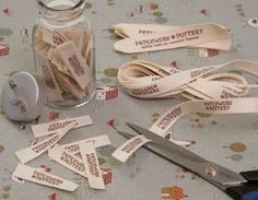 Great, simple way to make fabric labels using Avery Fabric Transfers. Just print and iron on.  Thanks for sharing Patchwork Pottery.