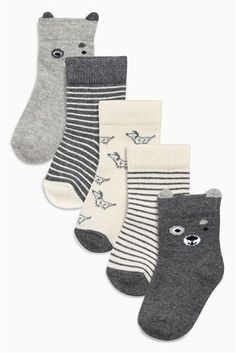 Buy Grey Socks Five Pack (Younger Boys) from the Next UK online shop