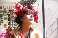 Hair floral arrangements #FloresparaCatrina