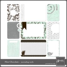 Mint Chocolate Journaling Cards :: Journal Cards :: PROJECT 365 | LIFE :: Memory Scraps