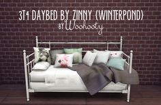 3T4 DAYBED BY ZINNY (WINTERPOND) CONVERTED at Woohooty • Sims 4 Updates