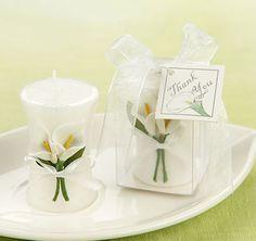 Calla Lily Elegance Vase Shaped Candle Favor