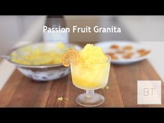 Passion Fruit Granita - Byron Talbot - YouTube