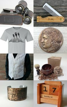 Scoping Out Some Mens Gifts by Robin Harley on Etsy--Pinned with TreasuryPin.com