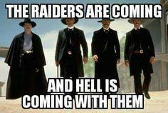 The Raiders are coming Oakland Raiders Logo, Oakland Raiders Images, Raiders Sign, Raiders Stuff, Raiders Baby, Raiders Players, Old English Font, Angels Baseball, Bo Jackson