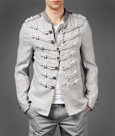 rope detail jackets will always remind me of Adam Ant.    by John Varvatos