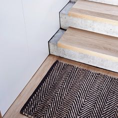 """""""Serengeti Entrance Mat made from sustainable hemp, concrete+wood stairs Wood Concrete, Concrete Stairs, Wood Stairs, House Stairs, Timber Stair, Stair Handrail, Railings, Detail Architecture, Interior Architecture"""