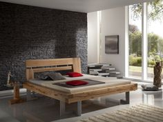 BALKENBETT Brandenfels - modern wood bed designs
