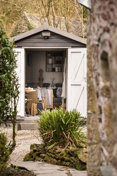 """This romantic stone cottage called """"The Poet's Hideaway"""" is a luxury moorland retreat in St Breward, a village in Cornwall, United Kingdom. Garden Room, Cottage, Stone Cottage, Cottage Exterior, Holiday Cottage, Cottage Interiors, Hideaway, Rural Retreats, Cornwall Cottages"""