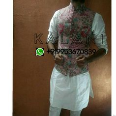 Men Floral Nehru Jacket with Kurta Pyjama Set Worldwide Shipping Delivery in 3 - 5 Days , WhatsApp : +919953670839