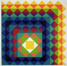 Herbert Bayer, 'Chromatic Triangulation II' 1970. Triangles!!