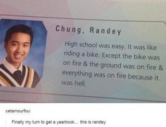 Yearbook quote for the win