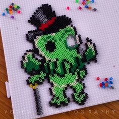 Cthulhu (Lovecraft) - Hama (perler) beads by Vodevila