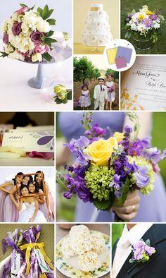 Lilac + Butter Yellow + Mauve | Vintage Wedding Color Palettes We Love | https://www.theknot.com/content/vintage-wedding-color-palettes-we-love