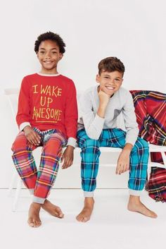 Multi Bright Woven Jogger Pyjamas Two Pack from Next. The Perfect Gift For Teenage Boys This Christmas.