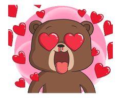 New Raikuma 2 Love Heart Gif, Love You Gif, Cute Love Gif, Cute Cartoon Images, Cute Love Cartoons, Gallo Claudio, Gif Mania, Hug Gif, Star Wars Stickers