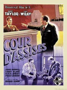 The Jury's Secret - Original Movie Poster - French