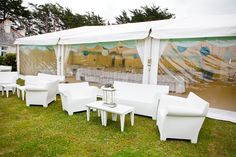 Bubble Club furniture could be used to create a funky all white seating area/bar!