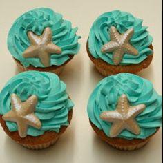 Ocean Cupcakes by Mighty Fine Cakes, via Flickr