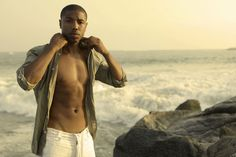 Michael B. Jordan    Never one to disappoint, in the past Red Tails star Michael B. Jordan earned a spot on our Sexiest Men of 2010 list and shirtless photos like this one proved to be a huge hit with the ladies.