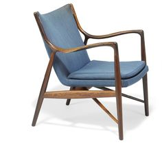 Finn Juhl // Niels Vodder// NV45. A Brazilian rosewood easy chair.